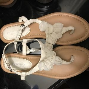 Cute white floral sandals