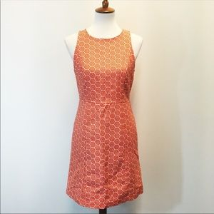 Gap Honeycomb Fit And Flare Dress