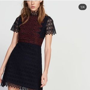 Sandro Lace detailed dress
