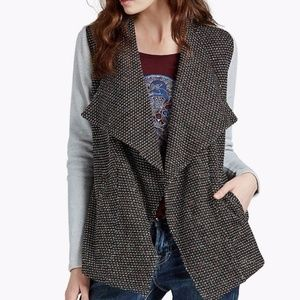 LUCKY BRAND Open Front Panel Sweater Cardigan