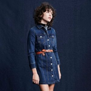 UO Cooperative Berkin Denim Mini Dress