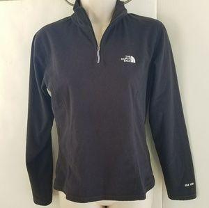 The North Face high collar quarter zip sweatshirt