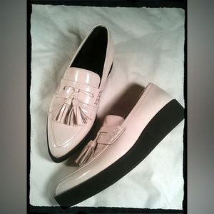 Platform Tassel Loafers~Winter White Patent~NWOTs