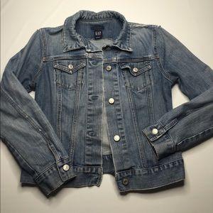GAP Distressed Denim Jacket