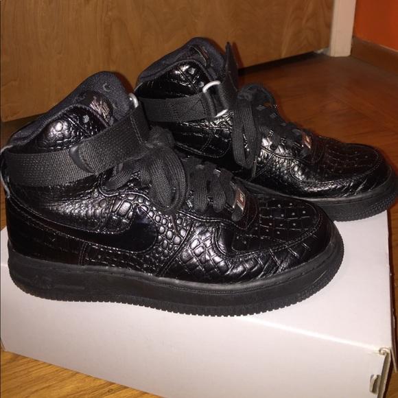Nike Air Force 1 high top black croc
