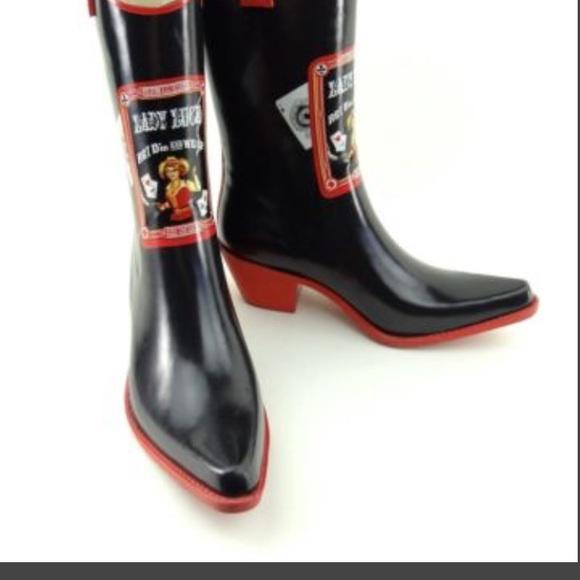 134a12684e1 ♠️ ❤️ Lady Luck Cowboy Rain boots ♠️❤️