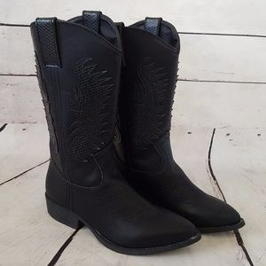 Rampage Wamblee Cowboy Western Mid Shaft Boots