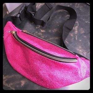 Pink Metallic Fanny Pack