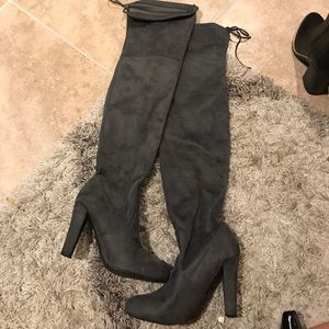 Steve Madden over the knee tie boots