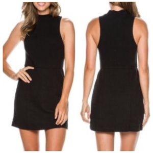 Free People Mary Jane Black Mini Dress XS NWOT