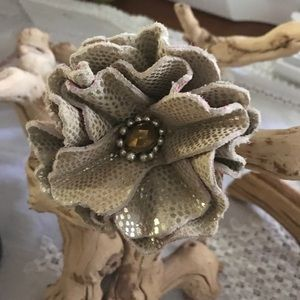 Accessories - Leather hand made flower! New!