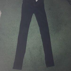 Black super skinny hollister jeans