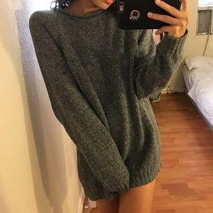 Vintage Oversized Grey Sweater