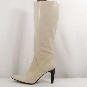Via Spiga Ivory High Heel Boots