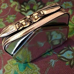 ALEXANDER WANG Metallic Silver Adriel Zip Clutch