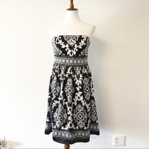 White House Black Market Silk Damask Dress