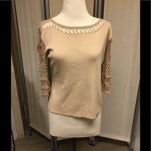 Double knit crochet sleeve top