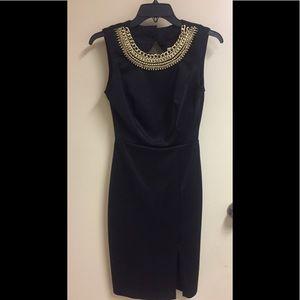 Sexy black dress chain neck design Sz 2