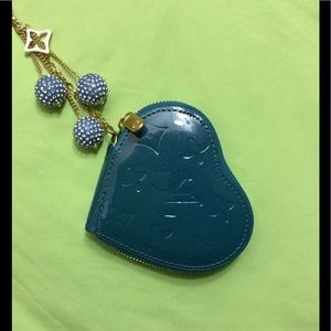 2 in 1 heart coin purse bag charm and keychain