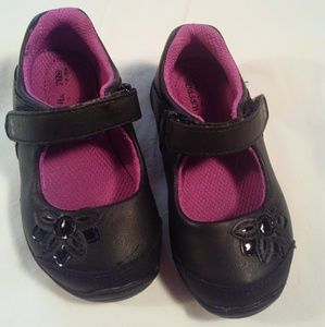 Black velcro sporty Mary Janes Toddler Shoes