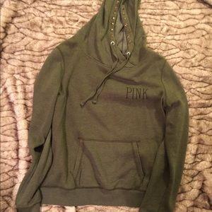 VS PINK dark green hoodie. Size L