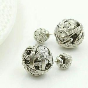 Silver Elegant Rhinestone Crystal ear stud Earring