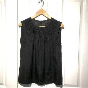 JCrew black sleeveless cotton blouse