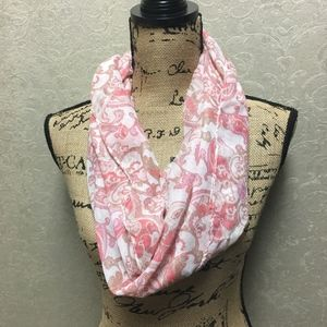 Gorgeous pink floral infinity scarf NWOT