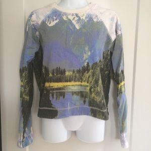 Motel Rocks landscape graphic sweatshirt