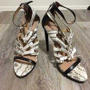 LAMB • Snakeskin Gladiator Heels