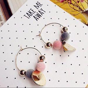 Asymmetric Style Geometric Pendant Earrings