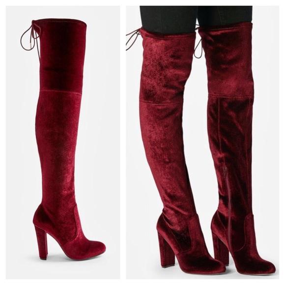 dc5601648c7 🔥SEXY Burgundy Thigh High Boots🔥