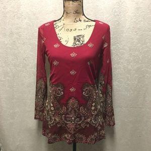 Chiffon type tribal Indian inspired tunic
