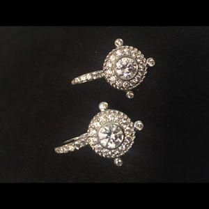Judith Ripka CZ and Silver Earrings