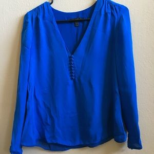 Royal blue J. Crew blouse