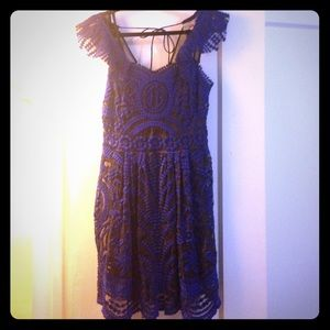 Anthropologie Embroidered Sheer Dress