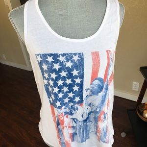 Jimmy Hendrix Flag Tank Top/4th of July/USA
