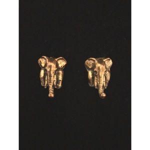 Gold elephant studs