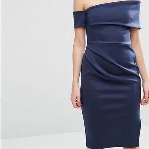 ASOS brand asymmetrical navy dress