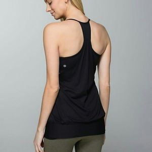 Lululemon Black No Limit Racerback Tank Top