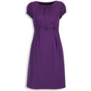 Boden Purple Ruched Waist Sheath Dress