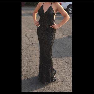 Black Scala sequined dress