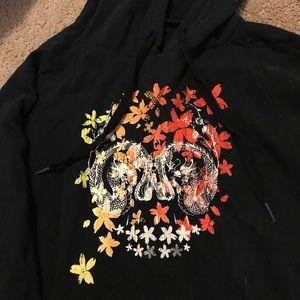 Vans floral skull hoodie