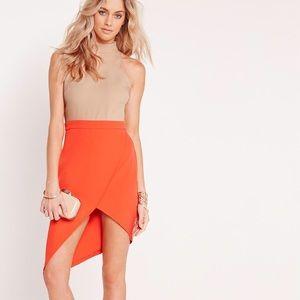 Missguided Nude & Orange Colorblock Dress