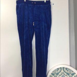 Juicy Couture Royal Blue Velvet sweat pants. NWOT