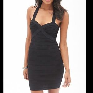 Black body con bandage mini dress