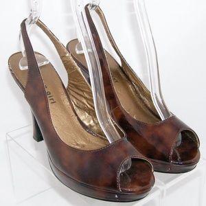 Madden Girl 'Pam' peep toe patent slingbacks 7
