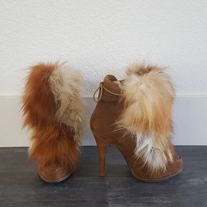 Fox Fur Detailed Chinese Laundry Booties