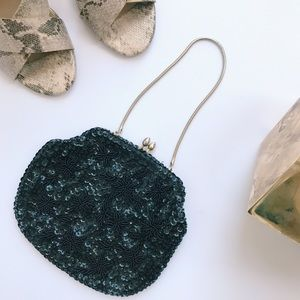 Vintage Beaded  Sequin Hand Bag Purse