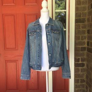 Gap Boyfriend Mid Wash Denim Jacket
